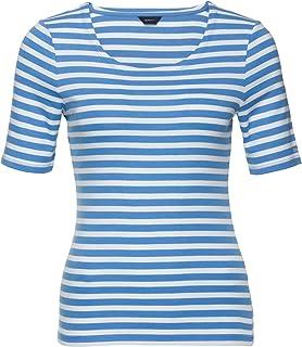 GANT STRIPED 1X1 RIB LSS T-SHIRT dames t-shirt