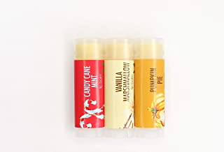 Good Earth Beauty Natural Vegan Lip Balm - 3 Pack - Candy Corn, Sugar Cookie & Frosted Gingerbread