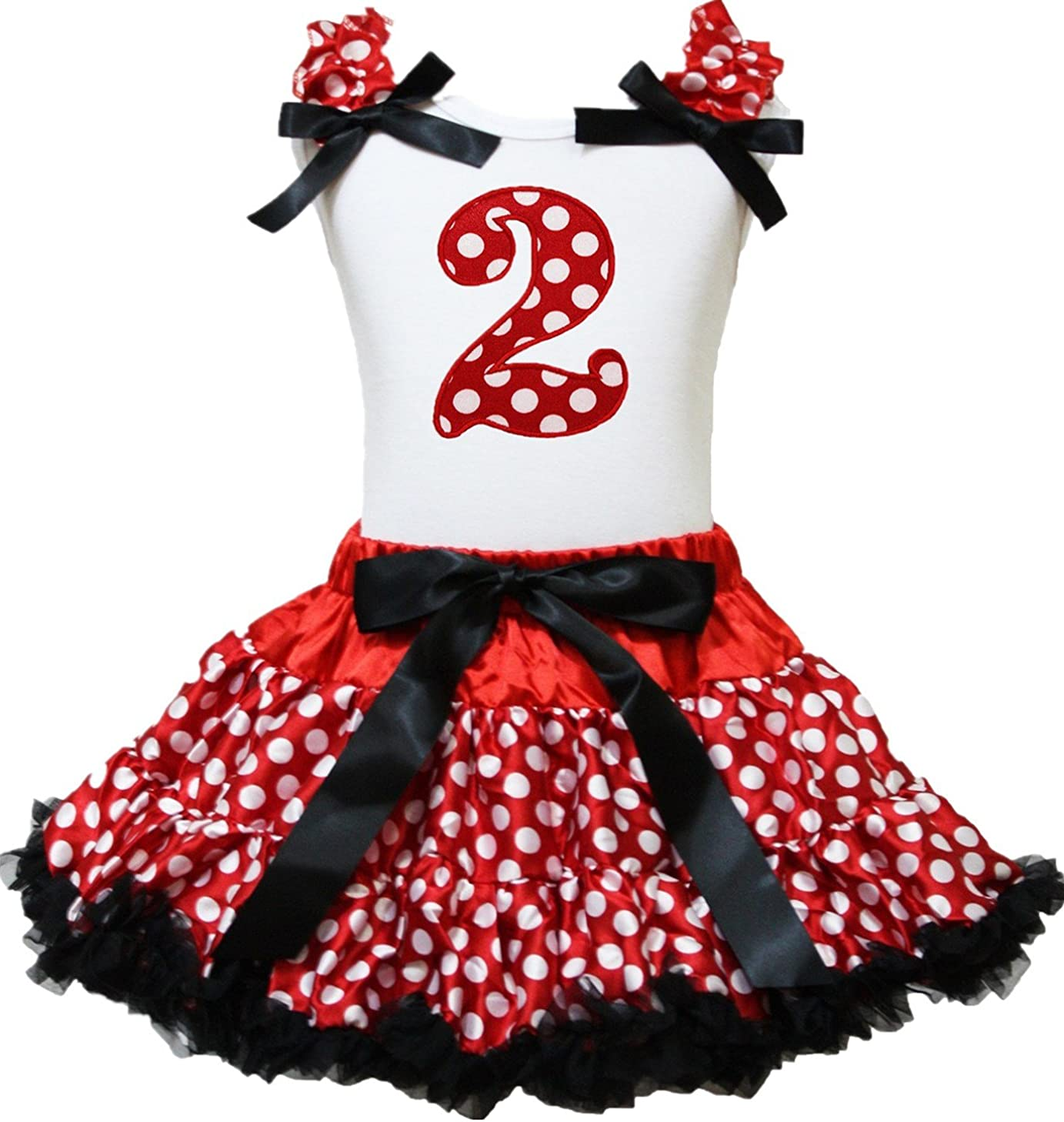 Petitebella Red Dots 1st to 6th sold out Skirt White Petti Shirt Factory outlet