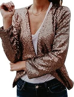 Da Donna Anteriore Cerniera Oro CAPE Cardigan Donna Manica Lunga in Pelle Scamosciata bordi Felpe con Cappuccio Top
