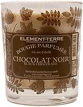 Świeca zapachowa, 200 g, 50 godzin, zapach czekolady, czarny