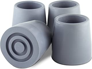 Essential Medical Supply Replacement Walker/Commode Tips, Gray, 1