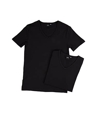 BOSS Hugo Boss T-Shirt V-Neck 2-Pack CO/EL 10194356 01 (Black) Men