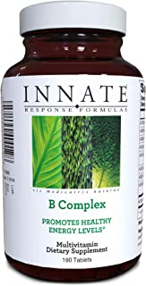 INNATE Response Formulas, B Complex, B Vitamin Supplement, Non-GMO Project Verified, Vegan, 180 tablets (180 servings)