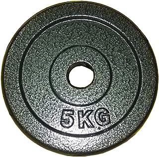 LOFAMI Discos de Pesas Discos Olímpicos Puros Placas de Hierro Peso Placas Placas de Fitness con Barra Mancuernas con Barr...