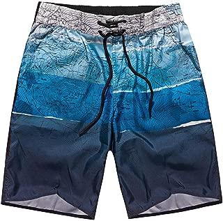 Bing4Bing Trippy Blue Pattern Summer Fast Dry Beach Mens Beach Shorts
