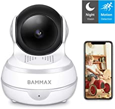 Wireless Security Camera 1080P Pet Camera-WIFI Indoor Surveillance IP Home Camera with Pan/Tilt/Zoom, Sound Detect, Motion Tracking & Alert,Two Way Audio, Dog/Elder/Nanny/Baby Monitor Night Vision Cam