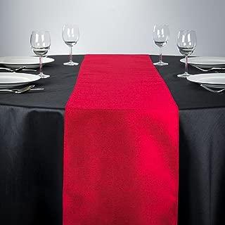 LinenTablecloth Shantung Silk Table Runner, 14 x 108, Red
