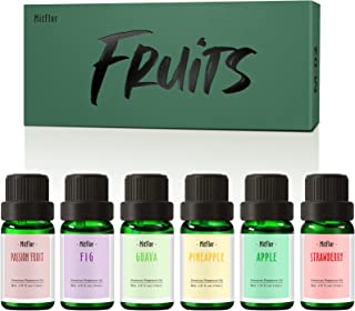 Fruity Essential Oils, MitFlor Premium Fruit Fragrance Oils, Soap, Candle Making Scents, Guava, Strawberry, Passion Fruit,...