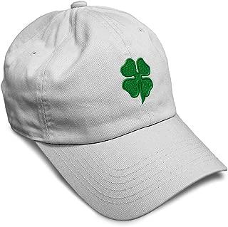 Custom Soft Baseball Cap 4 Leaf Clover Embroidery Dad Hats for Men & Women