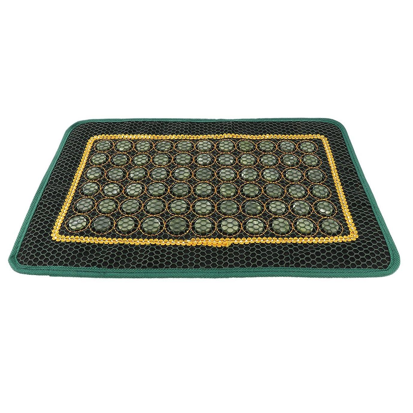テーブルを設定する腹部マニフェストP Prettyia 枕カバー パッド 約43x27.7CM マッサージパッド 椅子 座席 夏用 天然翡翠 車の座席
