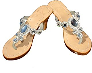 CARTIER Pasha Gorgeous Jeweled Genuine Leather Shoes, Style Corinth Clear/Silver Clear Size: 10