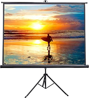 "VIVO 100"" Portable Indoor Outdoor Projector Screen, 100 Inch Diagonal Projection HD 4:3 Projection Pull Up Foldable Stand Tripod (PS-T-100)"