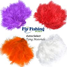 The Fly Fishing Place Fly Tying Materials - Select Woolly Bugger Marabou Master Pack 2-4 Colors - White Orange Red Purple