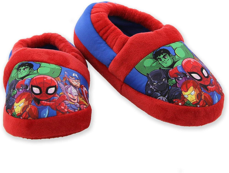 Marvel Avengers Superhero Boys Toddler Plush Aline Slippers