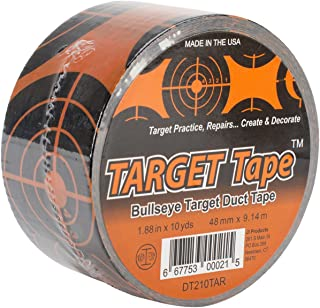 Beacon Duct Tape, Orange and Black Circle Target, 2-Inch by 10-Yard