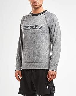 2XU Men's Urban Reversible Crew Pullover, Grey/Black