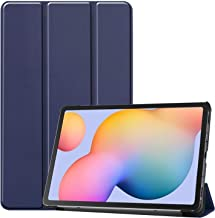 DOHUI for Samsung Galaxy Tab S6 Lite Case, Ultra Slim Lightweight PU Leather Cover Case with Stand for Samsung Galaxy Tab S6 Lite Tablet (Blue)