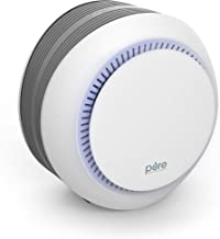 Pure Enrichment PureZone Halo 2-in-1 True HEPA Air Purifier for Home, Office, Bedroom and Desktops with 3 Fan Speeds, Auto-Off Timer and Night Light - Eliminates Dust, Pollen, Pet Dander, Smoke, Mold
