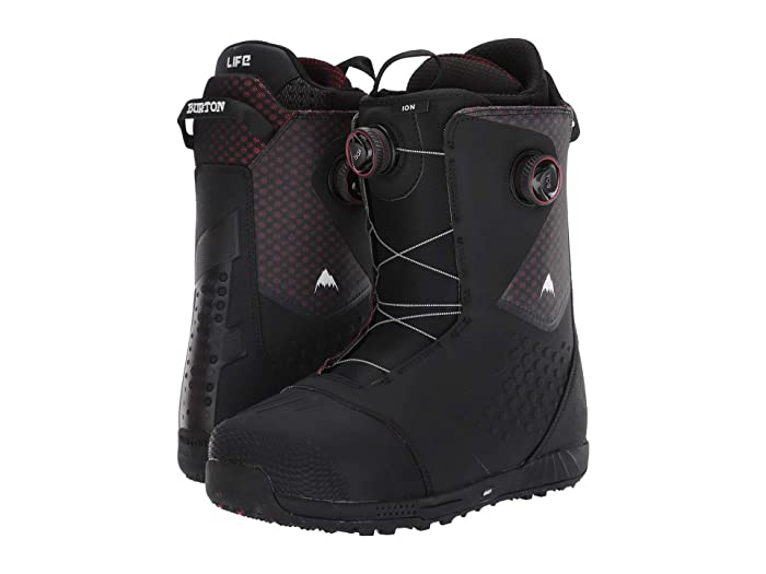Burton  Ion Boa Snowboard Boot (Black/Red) Mens Cold Weather Boots