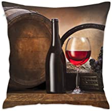Karen Felix Throw Pillow Covers Bottle Red Wine Decorative Cushion Case for Sofa Bedroom Car 18 X 18 Inch 45 X 45 cm