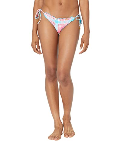 Luli Fama South Beach Vacay Wavy Ruched Back Tie Side Bottoms