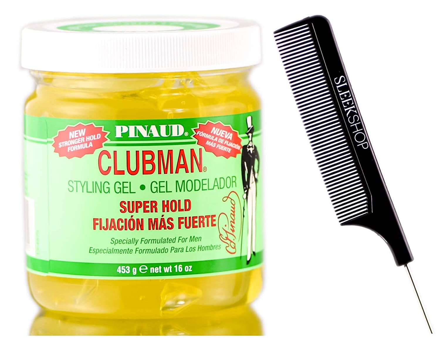 Pinaud Clubman Since 1810 Super special price STYLING GEL Sleek for Quality inspection No MEN Comb w