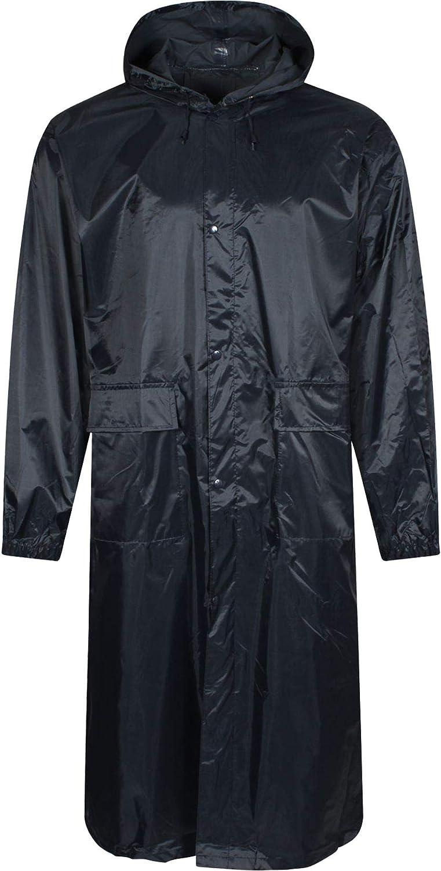 BAUM COUNTRY Men's Waterproof Long Rain Jacket with Hood