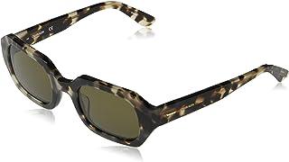 Calvin Klein Women's CK20540S Rectangular Sunglasses, Nude Tortoise, 51-23-140