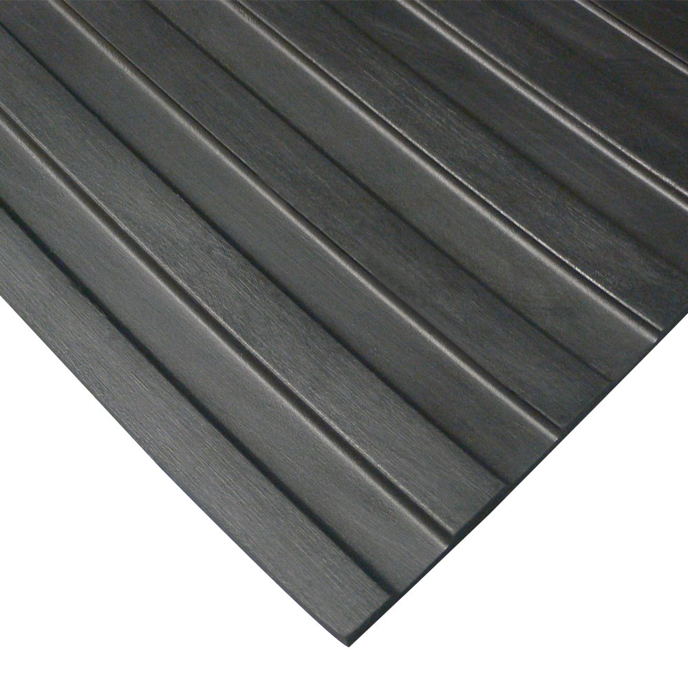 Rubber-Cal famous 03_168_W_WR_04 Wide Popular product Rib Floor Corrugated Rubber Mat