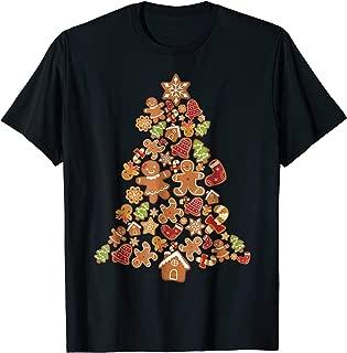 Jolly Gingerbread Christmas Tree T-Shirt Gingerbread Decor