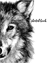 Sketchbook: A Cute Black Wolf Themed Personalized Artist Sketch Book Notebook and Blank Paper for Drawing, Painting Creative Doodling or Sketching.