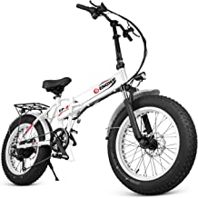 """ENGWE Electric Mountain Bicycle, Sporting Fat Tire City Snow Bikes 6 Speed Gear eBike with Removable 48V8A Lithium Battery(20"""")"""