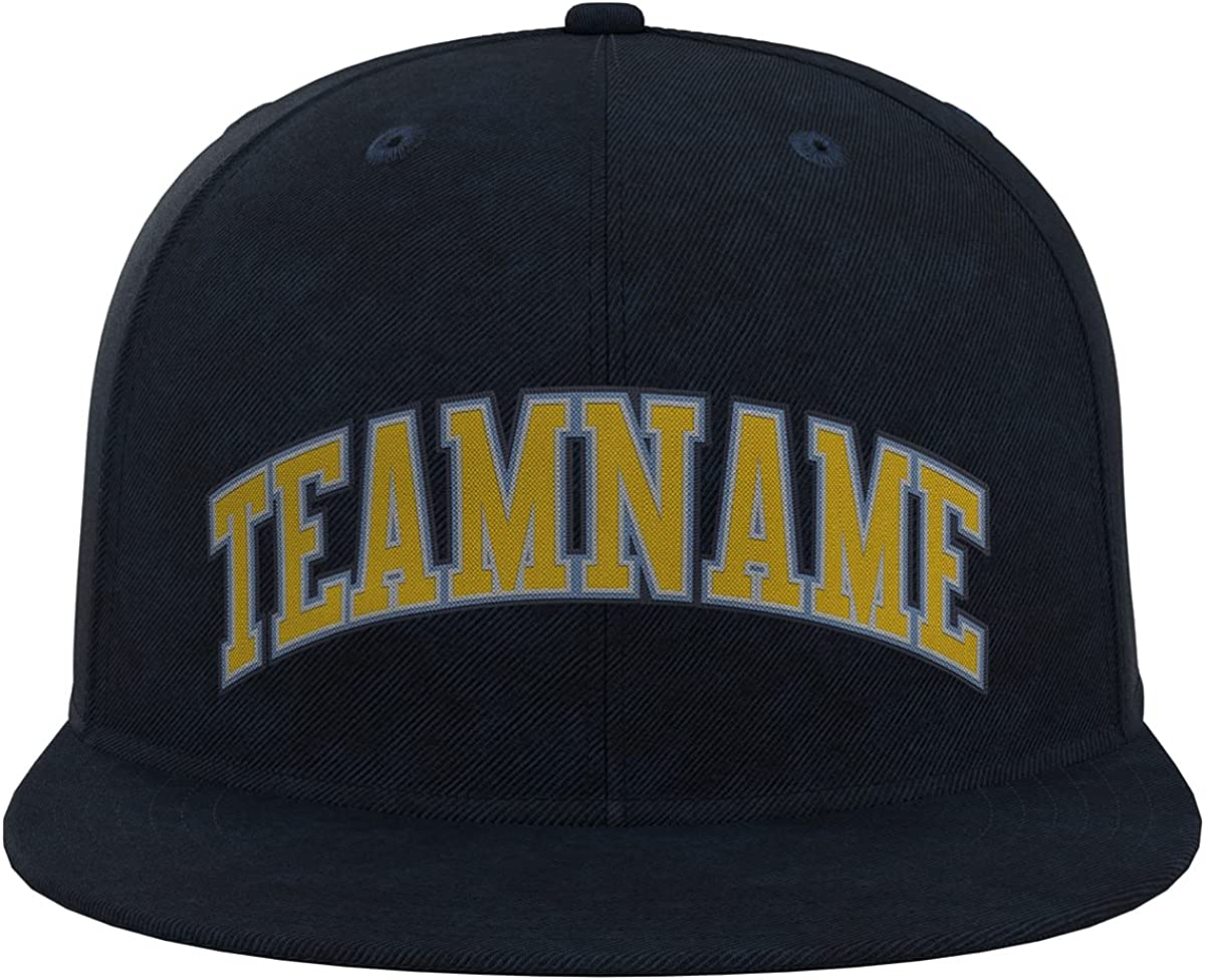 Custom Baseball Cap Strap Closure Stitched Flat Brimmed Hat Personalized Text Caps for Adult
