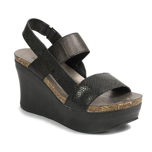 5eae3d44dc6 Pierre Dumas Hester-8 Women s Strappy Platform Wedge Sandals