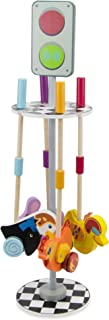 Imagination Generation Radical Racers 4-Pack Bundle, Push-Along Walking Toys and Storage Stand with Attitude – Includes Bu...