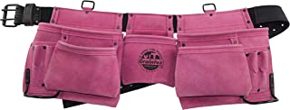 Graintex DS2015 11 Pocket Work Apron Pink Suede Leather