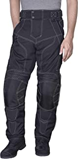 Men Motorcycle Riding Pants WaterProof WindProof Black with Removable CE Armor PT5 (XL)