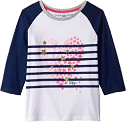 Tommy Hilfiger Kids - Stripe Heart Tee (Big Kids)