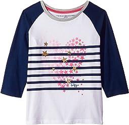 Tommy Hilfiger Kids - Stripe Heart Tee (Big Kids)