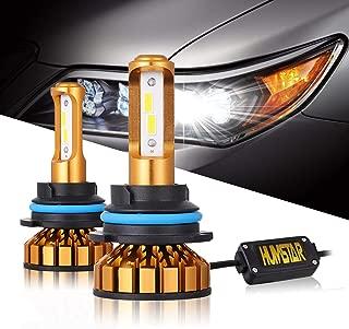 HUMSTAR 9004 Led Headlight Bulb, Mini Design 8000LM 6000K 60W CSP Chips with Anti Flickering Decoder HB1 Hi/Lo LED Headlight Conversion Kit, Halogen Headlights Replacement Cool White - 2Yrs Warranty