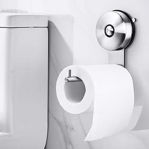 Yohom Vacuum Suction Cup Toilet Paper Roll Holder Kitchen Towel Holder Bathroom Hanger Shower Hat Key Rack Hook Stain...