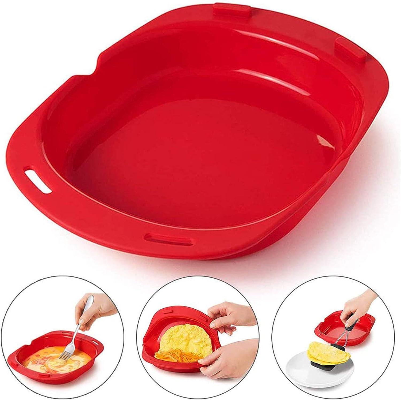 Forno a microonde Antiaderente Omelette Maker Rotolo di uova Teglia da forno Strumenti per omelette Maker Eggs Roll Baking Pan Omelette Tools A, 24.3 x 19.9 x 4.3 cm