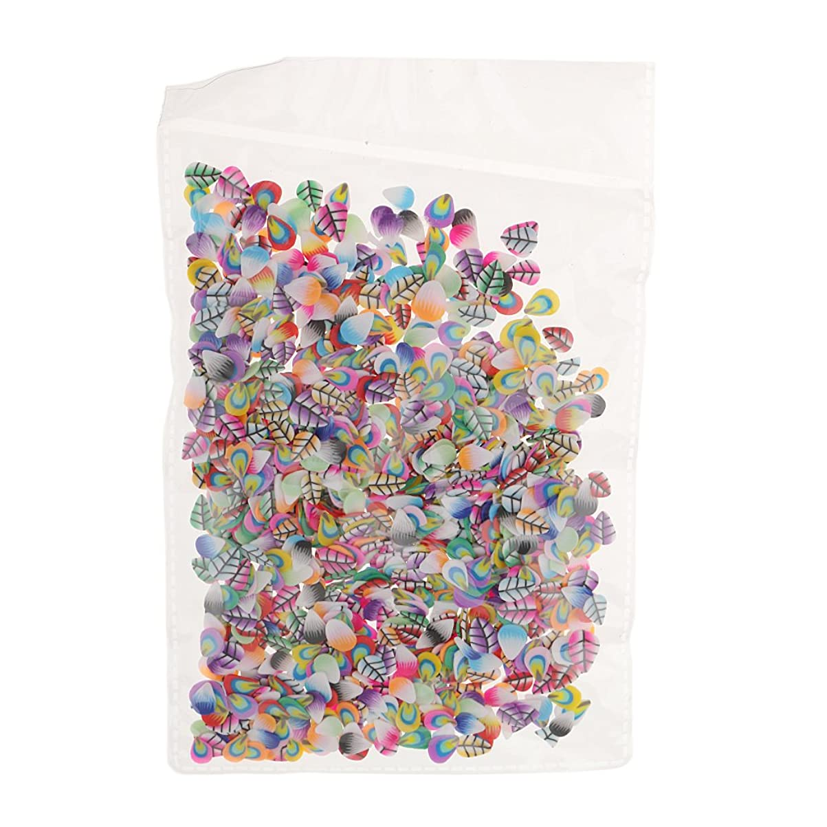 東全体破壊Perfeclan ネイルアート フルーツ スライス ポリマー ステッカー ネイル 装飾 約1000枚 直径約5mm - フェザースタイル
