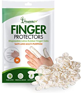 Finger Cots – Disposable Finger Protectors – Rubber Latex Finger Sleeve for Home and Medical Use,  DIY,  Electronic Repairs and More – Medical Grade Rubber Finger Protectors – 250pcs – Medium