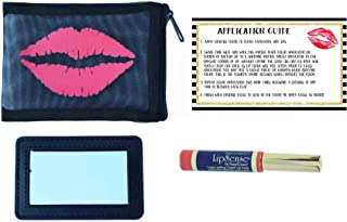 She's Apples LipSense Bundle with Red Lips Mesh Pouch, Mirror, and application guide