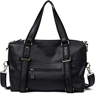 Fashio Cowhide Genuine Leather Men's Handbag Vintage Business Briefcase Laptop Bag (Color : Black, Size : 16 Inches)
