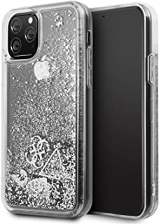 CG MOBILE Guess Glitter Hearts Case for iPhone 11 Pro Silver