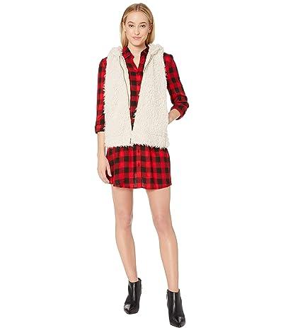 BB Dakota Arctic Foxy Hooded Wubby Vest (Tan) Women