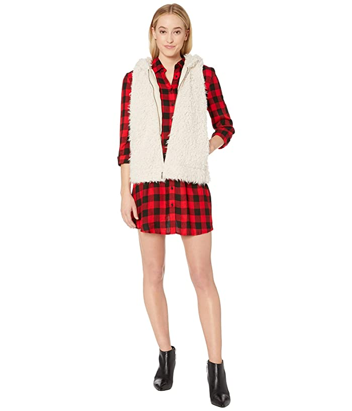 BB Dakota  Arctic Foxy Hooded Wubby Vest (Tan) Womens Clothing